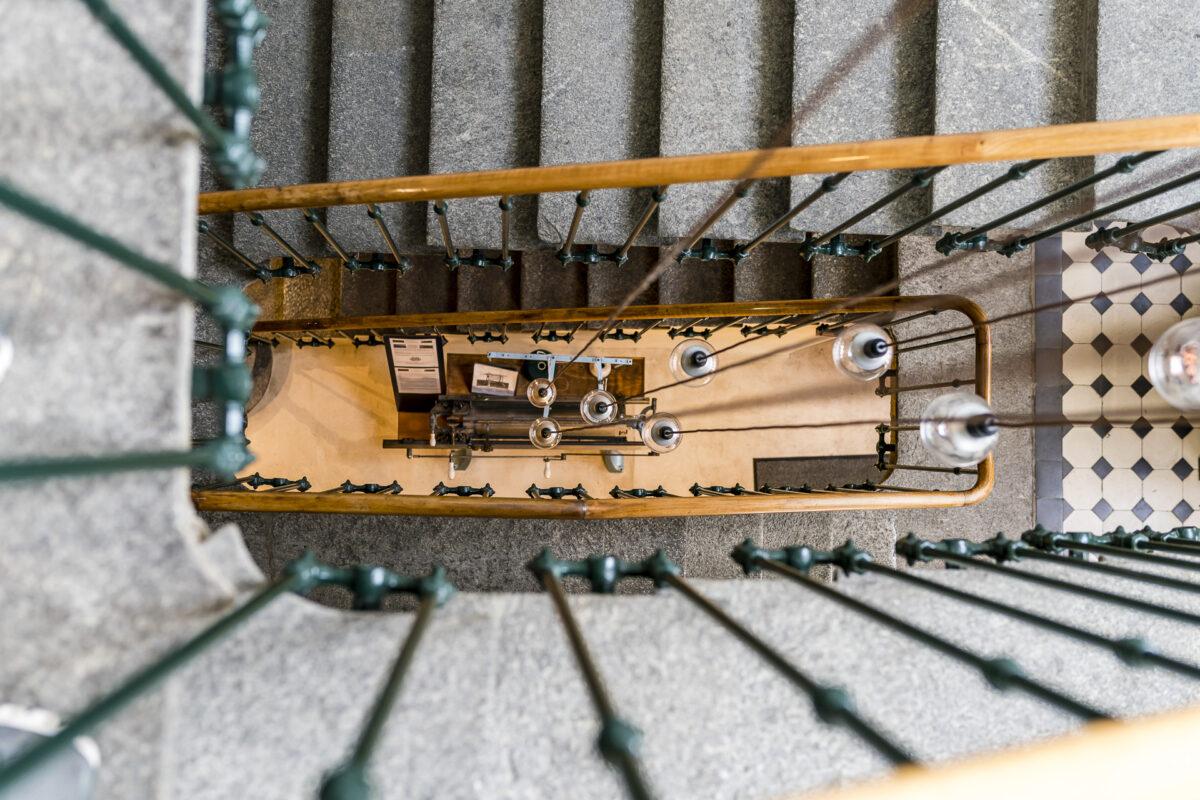 Treppenhaus im Hotel de l'Aigle