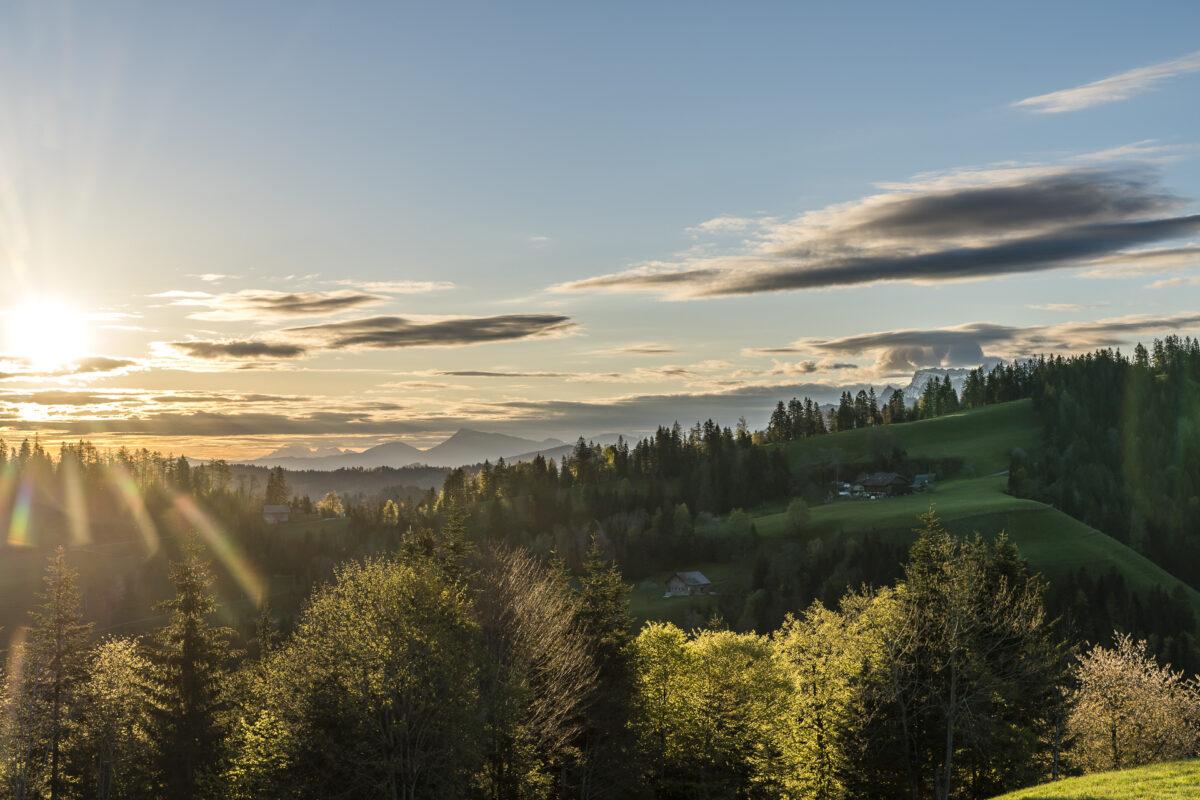 Sonnenaufgang Schwesteregg Romoos