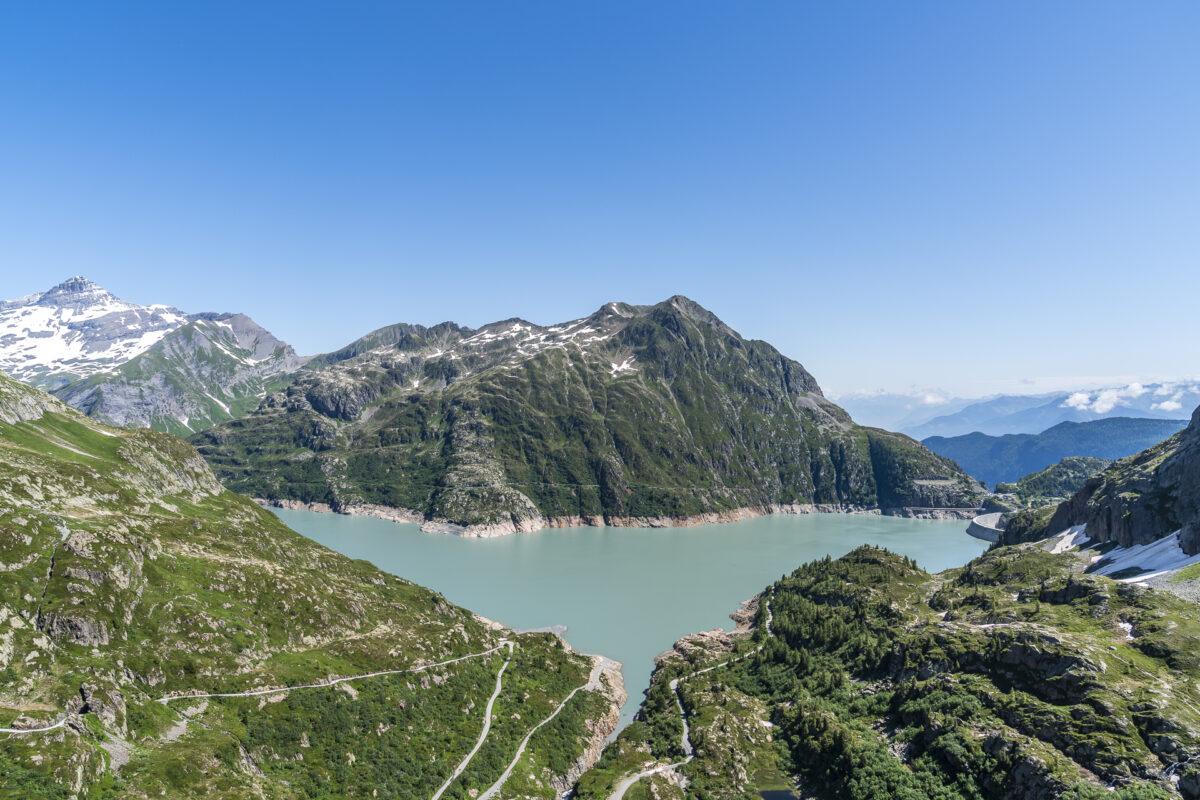 Panorama über den Lac d'Emosson