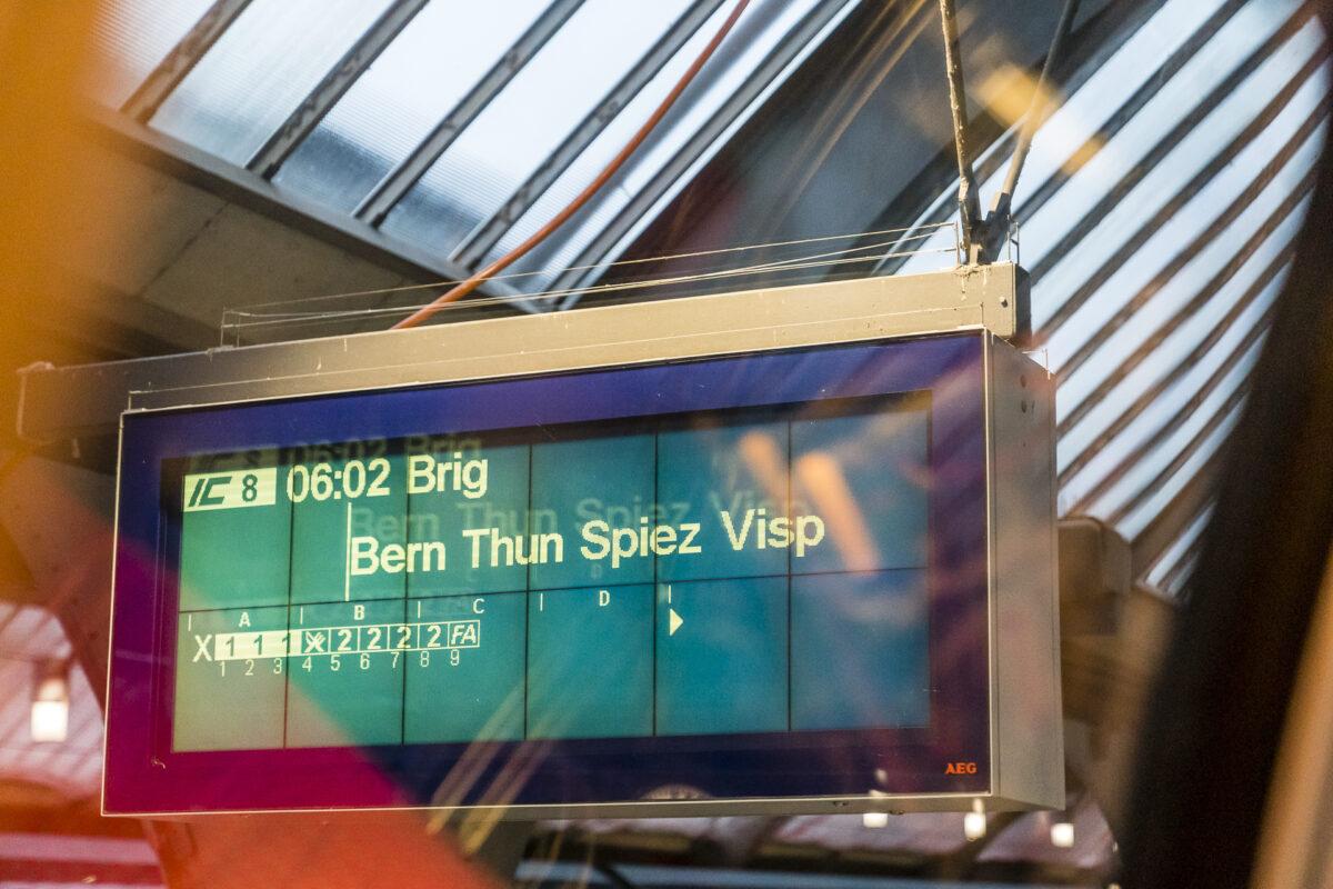 Abfahrtsanzeige Zürich SBB