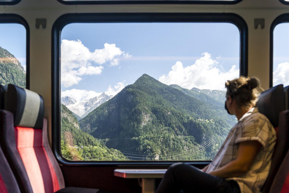 Aussicht MontBlanc Express
