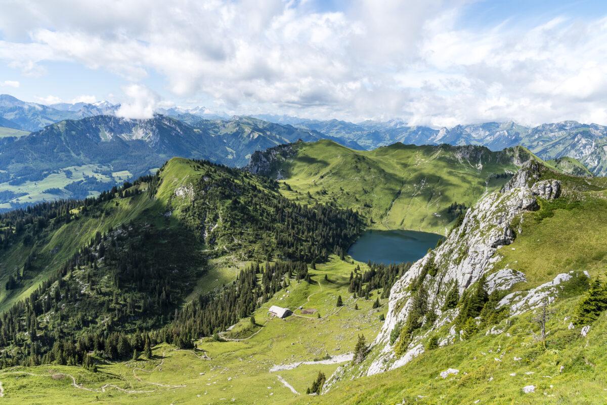 Stockhorn Bergseepanorama