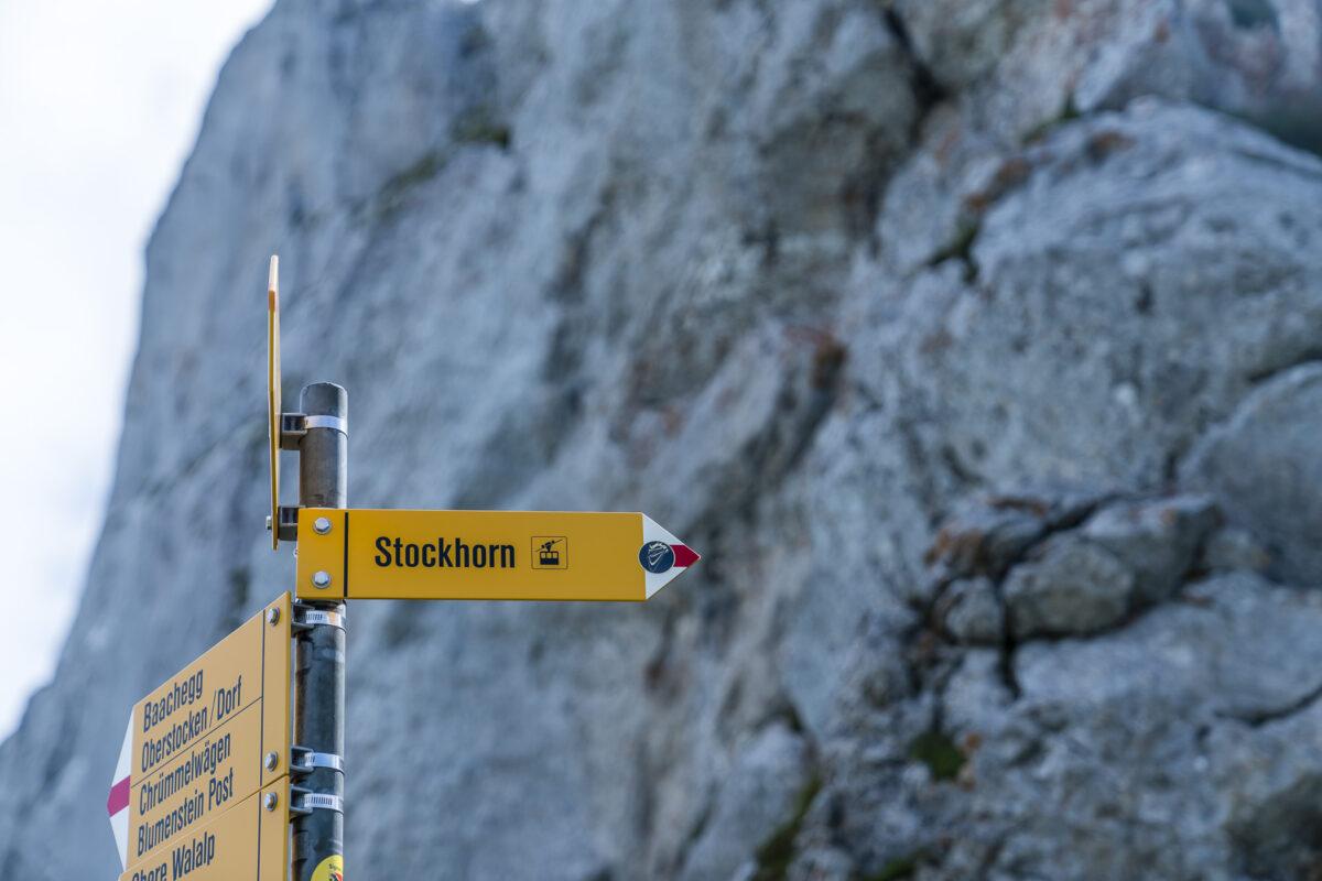 Wegweiser Bergstation Stockhorn