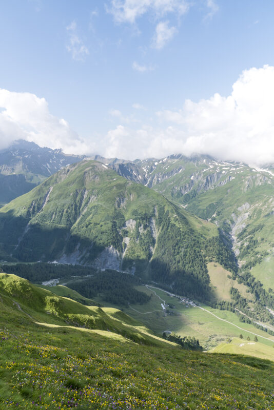 Panorama la Fouly Val Ferret