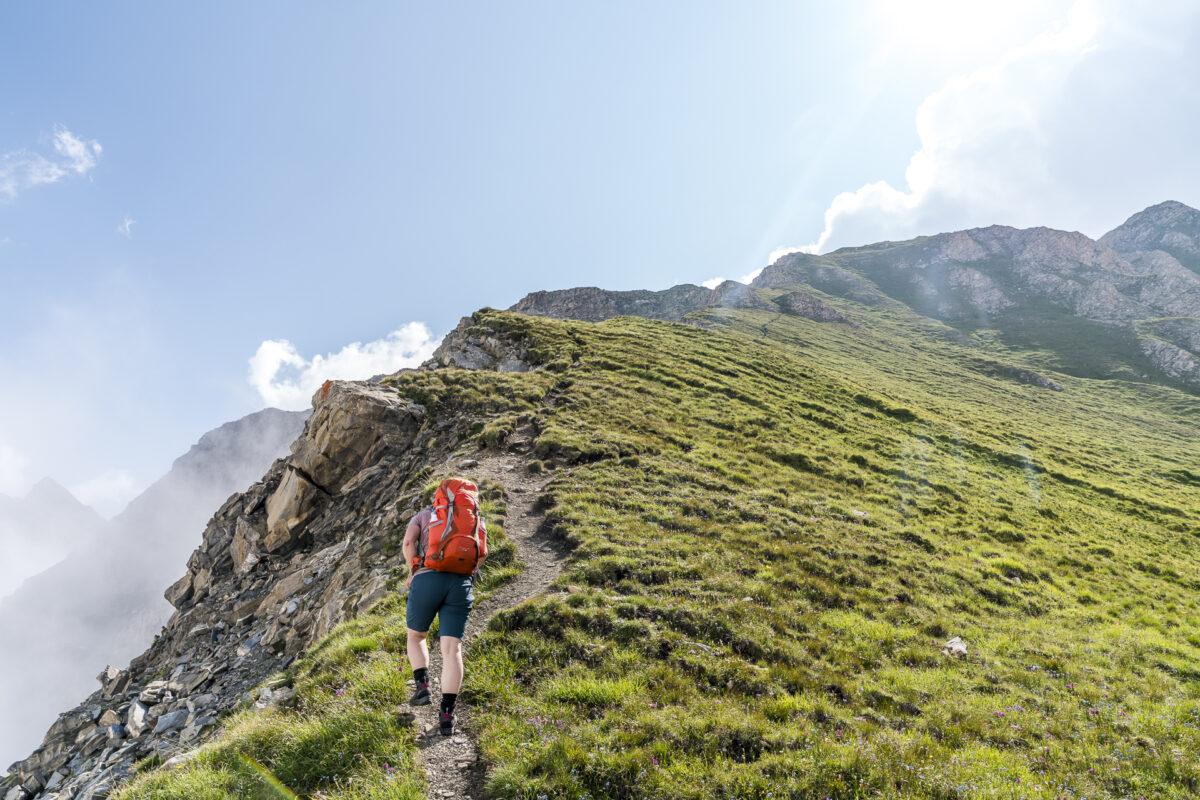 Aufstieg le Basset Tour du Saint-Bernard