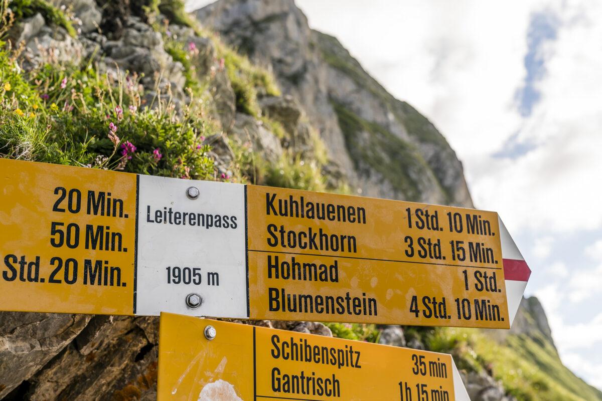 Leiterenpass Wanderweg