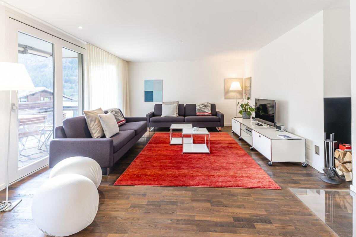 Chalet Altesse Ferienwohnung Wohnzimmer