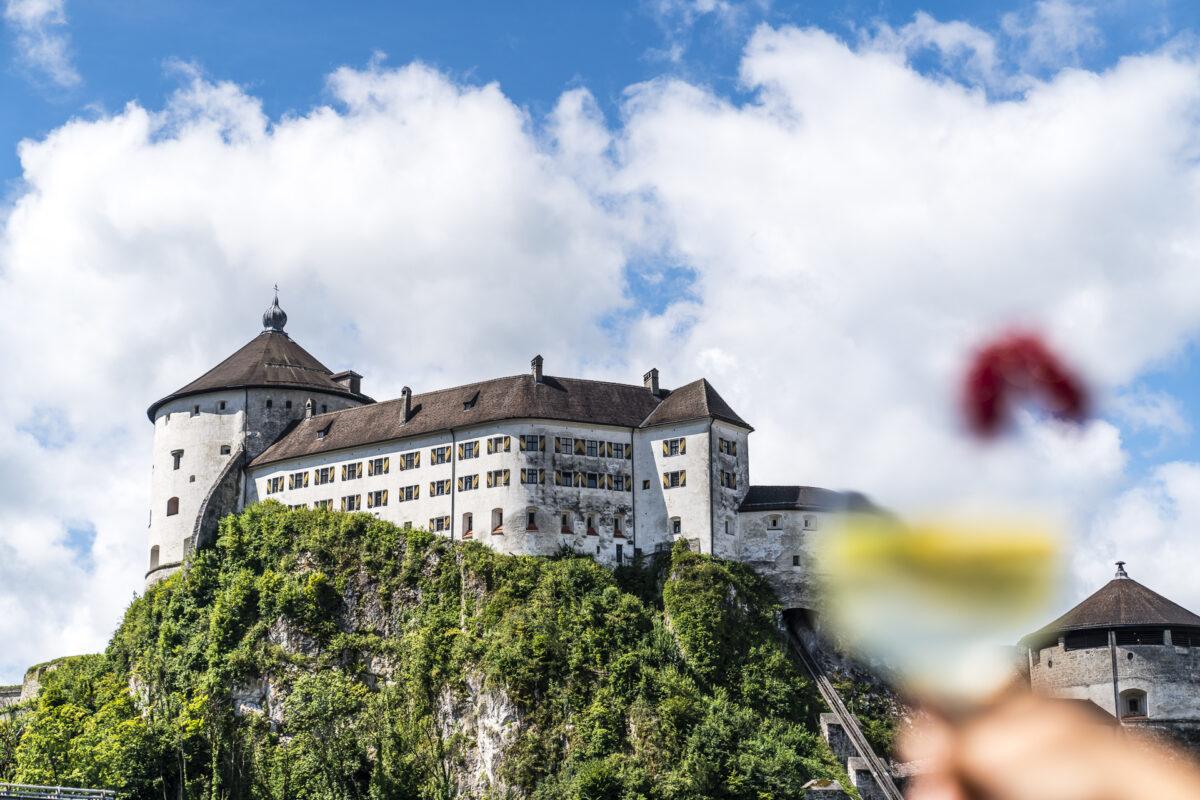 Schönster Blick auf Festung Kufstein