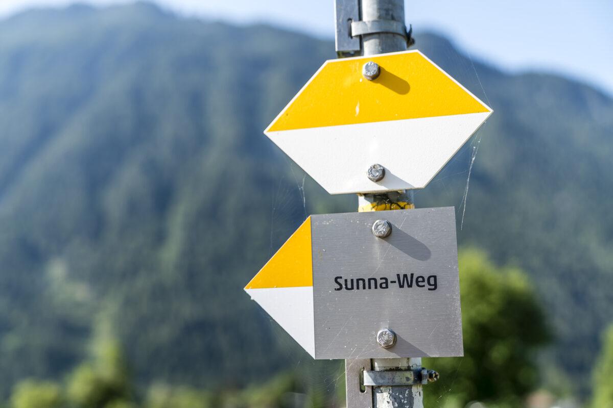 Sunna-Weg Wegweiser