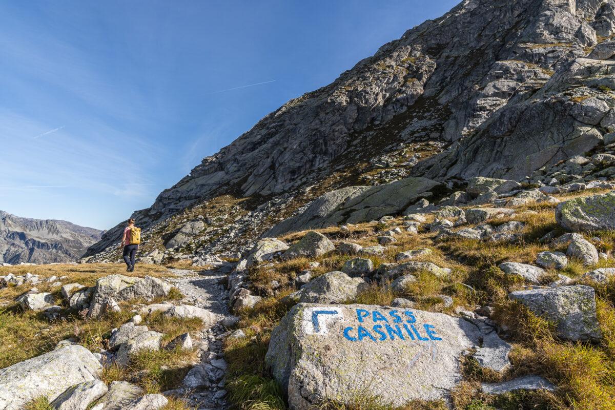 Aufstieg Pass da Casnil Sud