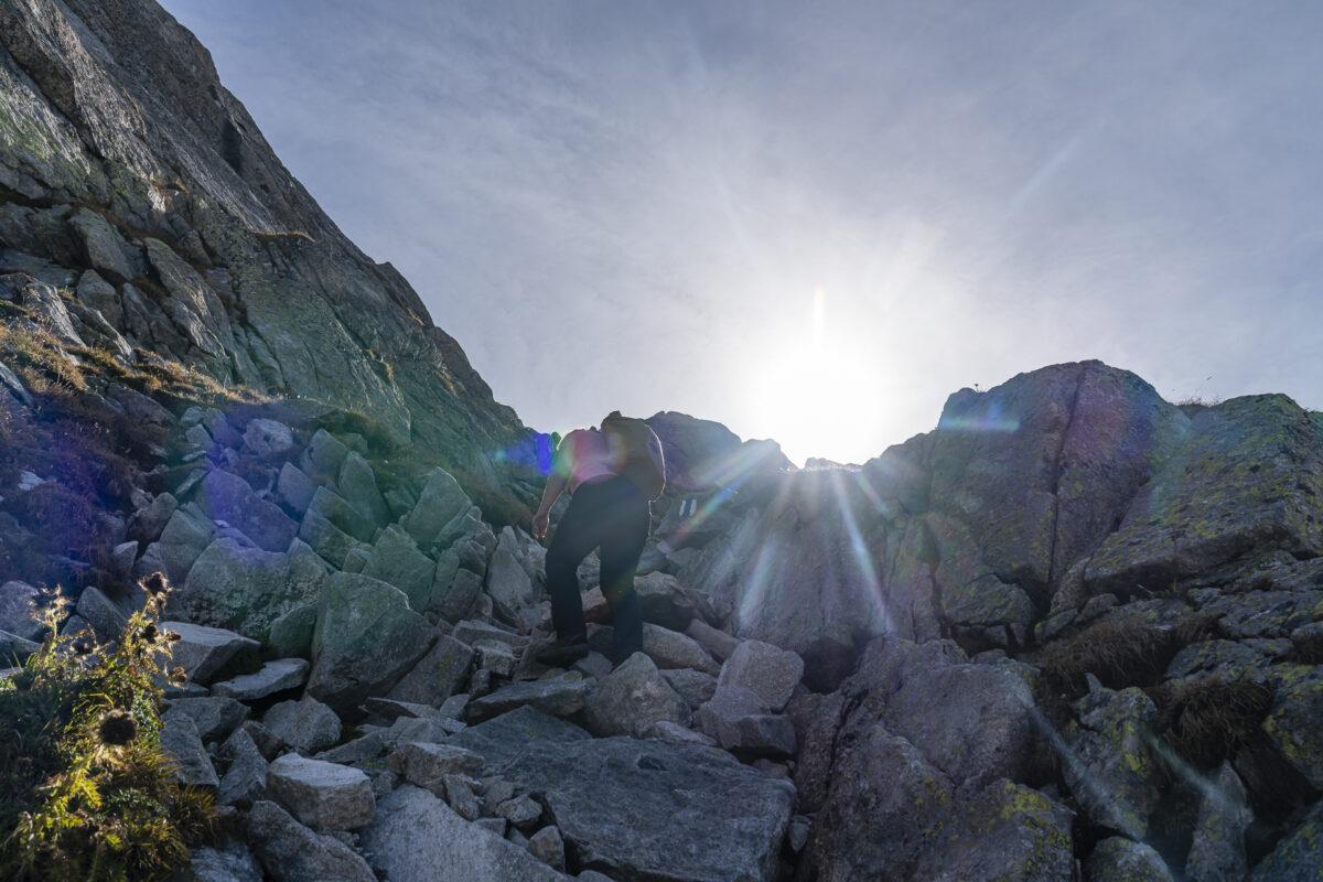 Pass das Casnil Sud Klettern