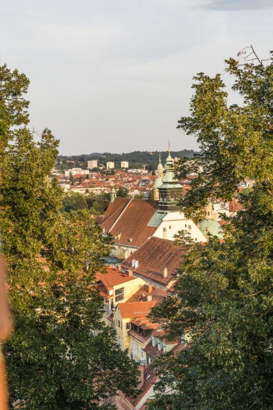 Graz Schlossberg Abendstimmung