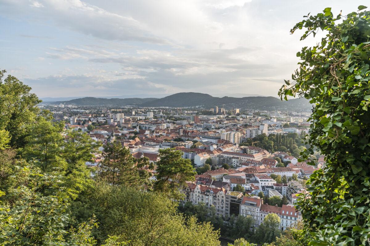 Graz Schlossberg Ausblick