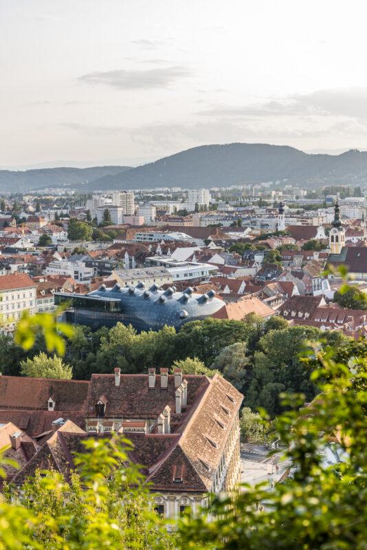 Graz Schlossberg Aussicht