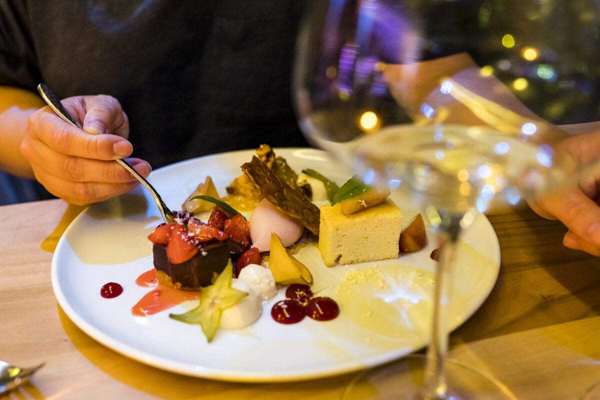 Graz Schlossberg Aussicht Dessert